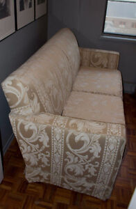 Elegant condo sized Taupe Sofa - Best Offer Takes It