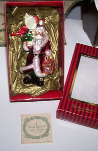 Waterford Holiday Heirloom Traveling Santa Ornament