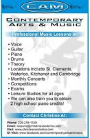 Professional Music Lessons: Piano, Guitar, Vocal, Glee and Drums