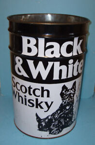 BLACK & WHITE SCOTCH WHISKY, BARIL MÉTALLIQUE