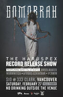 Gomorrah Record Release Show w/ support from Angelmaker