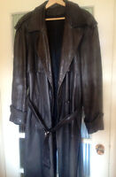 Outback Style full length leather jacket