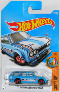 Hot Wheels 1/64 '71 Datsun Bluebird 510 Wagon Diecast Car