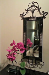 Lovely Wrought Iron MIrror  37 Inches high by 11 inches wide