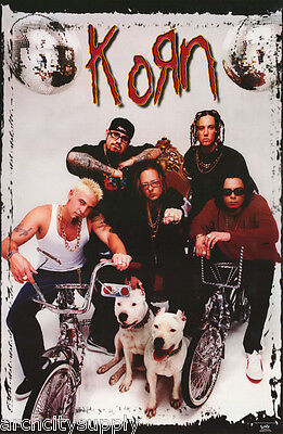 POSTER :MUSIC: KORN  - WITH BIKES & DOGS - FREE SHIPPING !  #6181  RC39 U