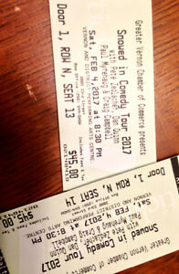 2 tickets to Snowed In Comedy Tour in Vernon