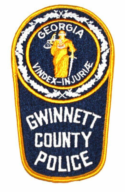 "GWINNETT COUNTY GEORGIA GA Sheriff Police Patch BLIND LADY JUSTICE LG 5.5"" ~"