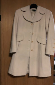 Off white dress coat-Alfred Sung
