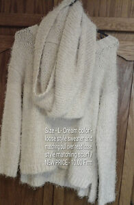 sweater and matching scarf set