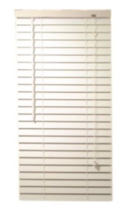 3 White Faux Wood Blinds in great condition !!