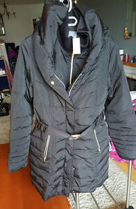 Large Size Black Coats with Hoodie