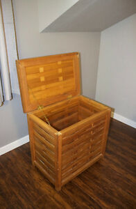 Teak Laundry Hamper