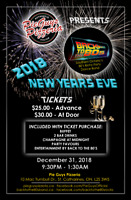 NEW YEAR'S EVE BASH - PIE GUYS PIZZERIA - BACK TO THE 80'S