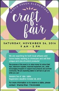 VENDORS NEEDED FOR CRAFT FAIR!