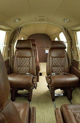 Piper Navajo custom leather interior, PA-31