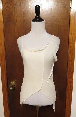 Vintage Comme Des Garçons Ivory Patchwork Silk Tank Top Sz S/XS