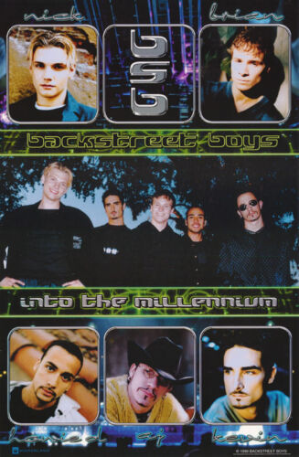LOT OF 2 POSTERS: MUSIC : BACKSTREET BOYS - INTO THE MILLENNIUM    #7551  RC13 D