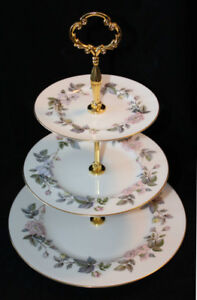 ROYAL WORCESTER 3 TIER CAKE STAND - JUNE GARLAND