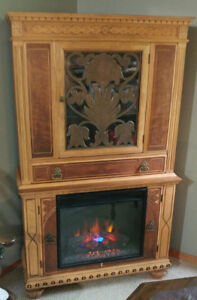 Beautiful Antique Cabinet with Fireplace