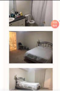 A large bedroom with private washroom for rent