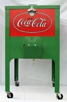 Coke-Cola rolling ice chest