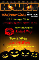 WANTED: COVER BAND for HALLOWEEN HAUNT UNITED WAY Event