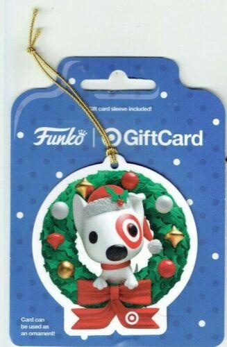 Target Gift Card Christmas Bullseye Dog Funko Ornament Wreath - 2020 - No Value