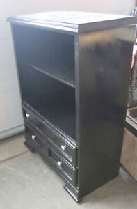 Black cabinet with 2 drawers