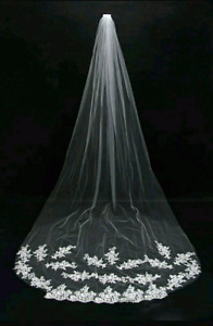 New cathedral lace veil ivory 2.5m