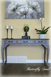 QUEEN ANNE SOFA TABLE - CROSS POSTED