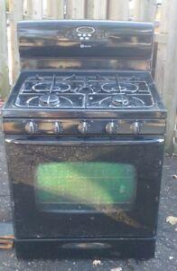 black gas stove Kitchener / Waterloo Kitchener Area image 1