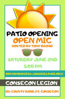 "CONSECON LEGION ""PATIO OPENING & OPEN MIC"""