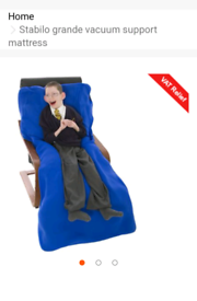 Specialist mobility pressure mattress for support of any position.