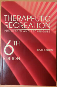 THERAPEUTIC RECREATION Textbooks! Like NEW!