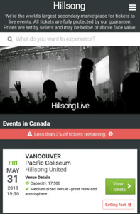 Hillsong United concert tickets (2)