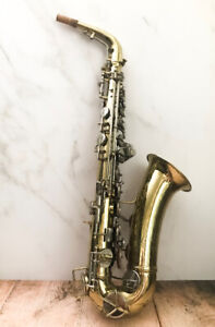 Pristine 1921 Conn Elkhart Ltd Alto Saxophone with Mouthpiece
