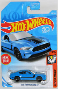 Hot Wheels 1/64 2018 Ford Mustang GT Diecast Car