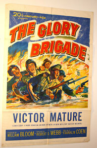 1-Sheet Poster- Victor Mature 1953 War Movie-The Glory Brigade