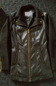 Womens Guess Jacket XS - Black & faux leather Cambridge Kitchener Area image 1