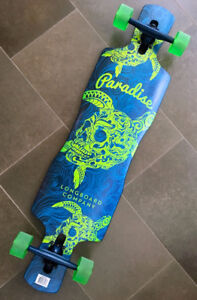 Paradise Turtle Skull Drop-thru Longboard BRAND NEW