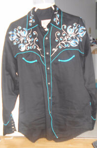 Men's Cowboy/Western shirt - 1940s style embroidery