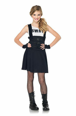 Brand New SWAT Police Officer Cop Teen Costume Leg Avenue j83850 - Swat Girls Costume