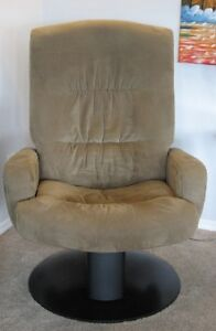 2 Palliser Glider Swivel Recliners with glider ottomans