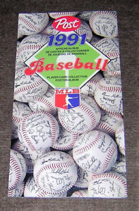 SUPER NICE 1991 POST CEREAL BASEBALL SET AND ALBUM