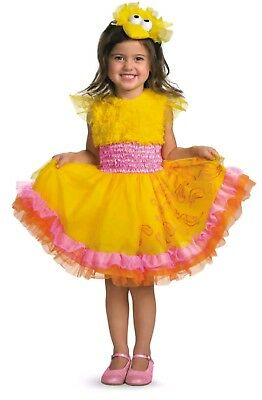 TODDLERS GIRLS SESAME STREET SESAME BIG BIRD FRILLY DRESS COSTUME 3-4T
