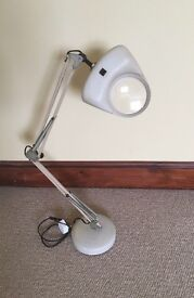 Anglepoise lamp with magnifying lens. £20