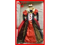 QUEEN OF HEARTS DRESS UP AGE 5-7