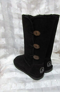 Ugg Look Boots new Bear Paws - Size 7 size 9 - Black