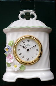 ROYAL DOULTON MINTON FIFE FLORAL COLLECTION CLOCK BRAND NEW COLLECTRABLE SCARCE