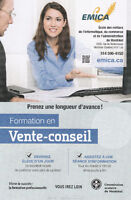 Vente conseil /Professional sales FREE training /w financial aid